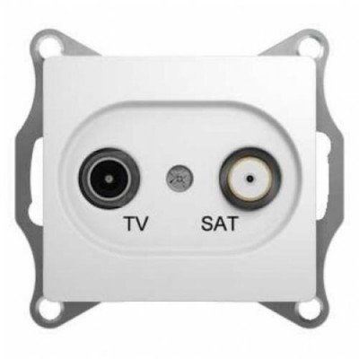 GSL000198 Розетка TV-SAT проходная 1DB БЕЛ GLOSSA