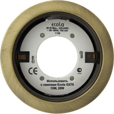 Светильник GX70H5 Встраиваемый Чернёная бронза Ecola
