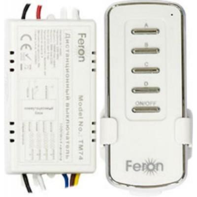 TM74 Выключатель бытовой 230В 1000W 4-канальный30м FERON