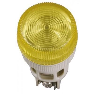 Лампа ENR-22 желтый неон/240В d22мм