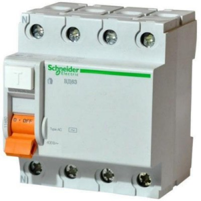 ВД63  4р40а/100 мА SE УЗО SCHNEIDER Electric 11464