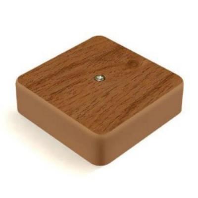 Коробка КМ41222-05 распаячная для о/п 104х104х44 мм дуб (6 клемм 6 мм2)