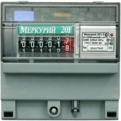 Меркурий 201.5 однотарифный 5-60 (1ф)