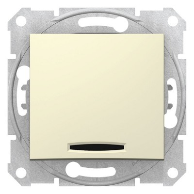Выключатель 1кл. с инд. беж Sedna SDN1400147
