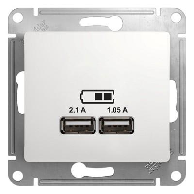 GSL000133 USB РОЗЕТКА, 5В/2100 мА, мех., БЕЛЫЙ