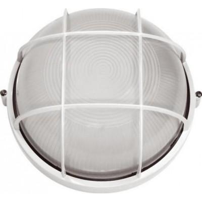 Светильник  НПП1102 100w круг с решеткой БЕЛЫЙ
