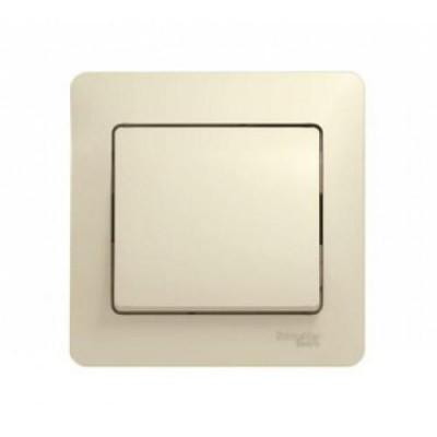 GSL000212 Выключатель 1-клав  в сборе БЕЖ GLOSSA