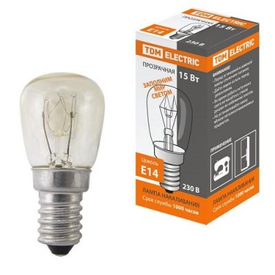 Лампа накаливания РН(ПШ)-230-15, 15 Вт, 230 В, Е14, TDM