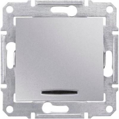 Выкл. 1-кл. с подсветкой алюм. SDN1400160