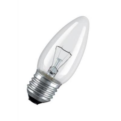 CLAS B CL 40 E27 лампа нак. свеча прозрачн.