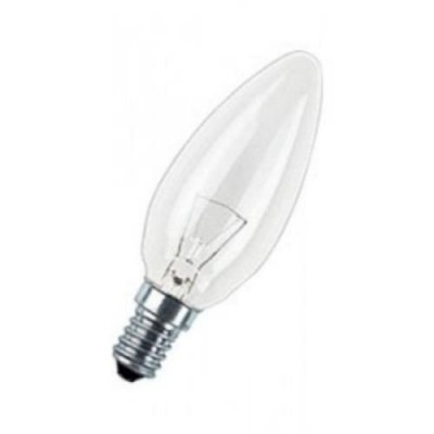 CLAS B CL 60 E14 лампа нак. свеча прозрачн.