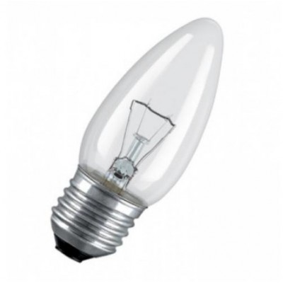 CLAS B CL 60 E27 лампа нак. свеча прозрачн.