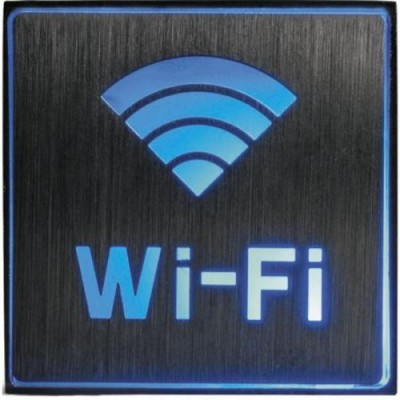 EL51 Светильник аккум.1LED/1W 230V Fi-Fi син.сереб. 110*110*20 FERON