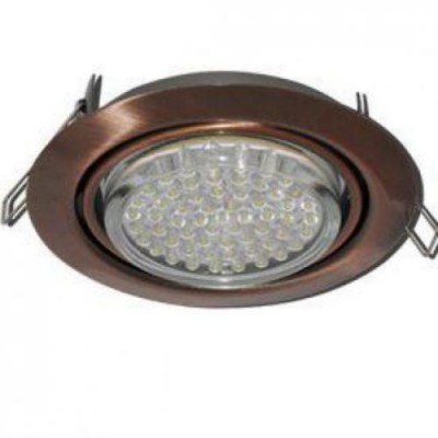 Светильник GX53FT9073 Поворотный встр. Чернёная медь 40*120 Ecola