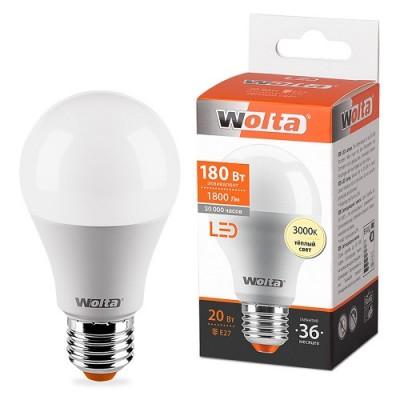 Лампа LED WOLTA A65 20Вт 1800лм Е27 3000К