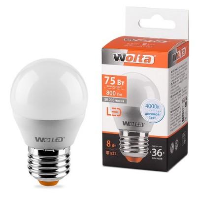 Лампа LED WOLTA G45 8Вт 800Лм Е27 4000К