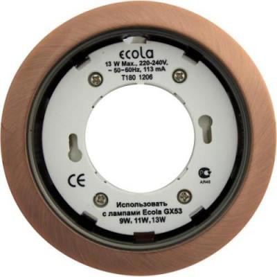 Светильник GX53H4 Встраиваемый Чернёная медь Ecola