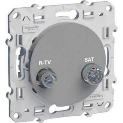 S53R454 Розетка R-TV\SAT алюм