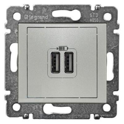 774170 Розетка USB-2ая беж VALENA