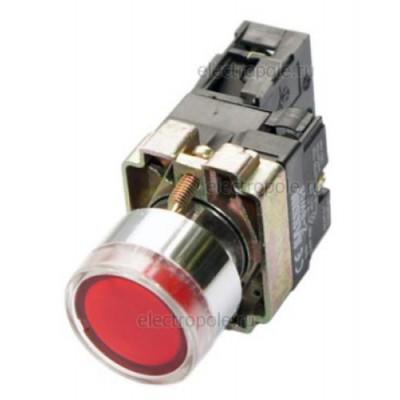 Кнопка BW3461 с подсветкой красный 1з