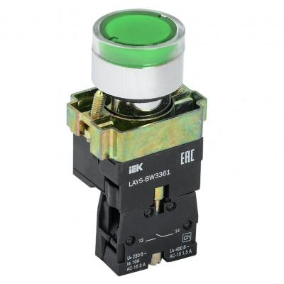 Кнопка BW3361 с подсветкой зеленый 1з