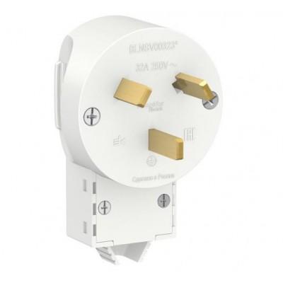 BLNSV003231 Вилка 2Р+N 32А для электроплит белый Blanca