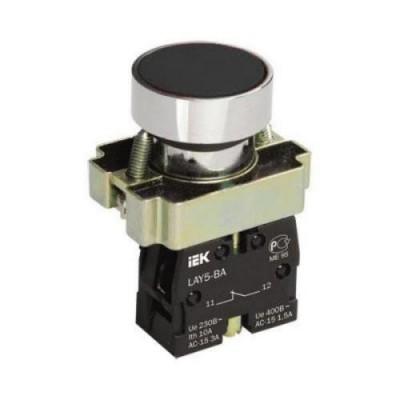 Кнопка LAY5-BА21  без подсветки черная 1з ИЭК