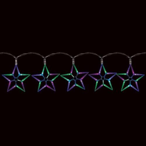 CL57 гирлянда ледяные звезды,  100  RGB LED 2m  (ВЫВЕДЕНО)