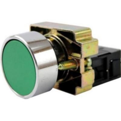 Кнопка LAY5-BА31  без подсветки зеленая 1з ИЭК