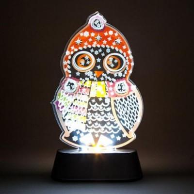LT098 световая фигура на подставке Сова, 3 LED (белый), 3 AAA, 185*110*50 мм