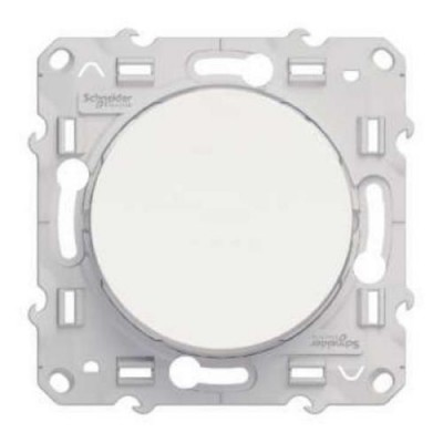 S52R205 Переключатель прох. 1-кл  белый ODACE
