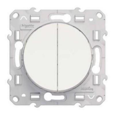 S52R211 Выключатель 2-кл  белый ODACE