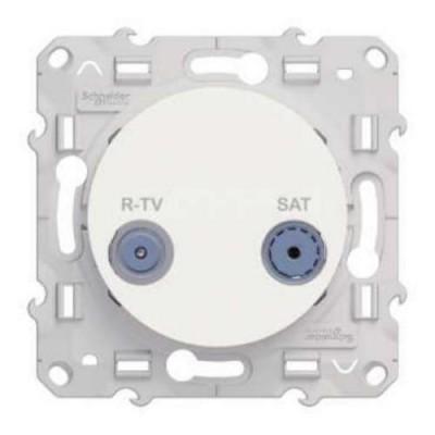 S52R454 Розетка R-TV/SAT индвид белый ODACE