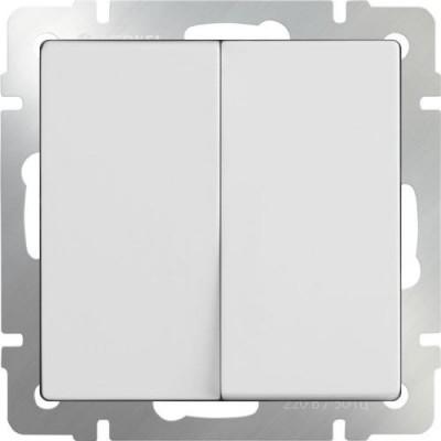 WL01-SW-2G / Выключатель  двухклавишный  (белый)