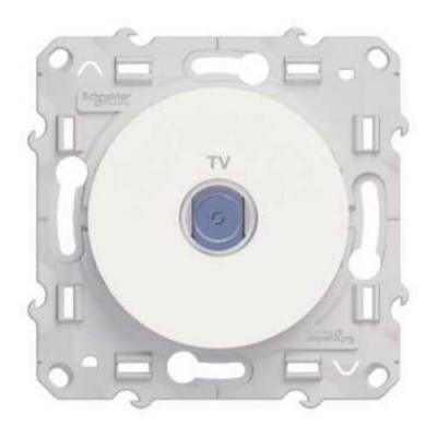 S52R445 Розетка TV белый ODACE