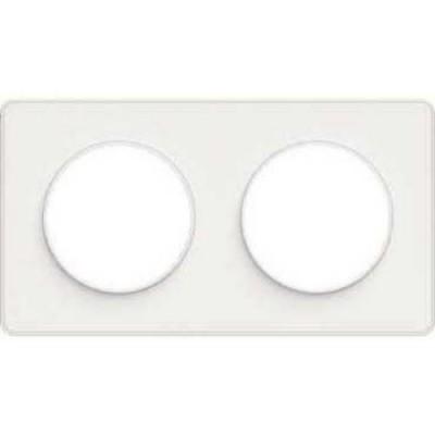 S52P804 Рамка 2 поста белый ODACE