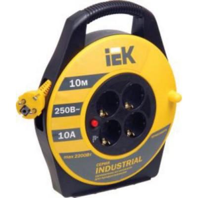 Удлинитель УК10 с т/з 4 места 2Р+PЕ/10м 3х1,0 мм2 Industrial