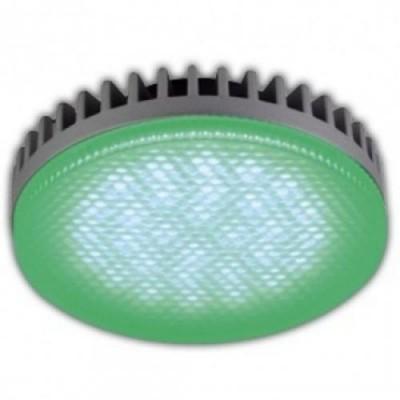 Лампа GX53 LED GREEN 8W матовое стекло Ecola