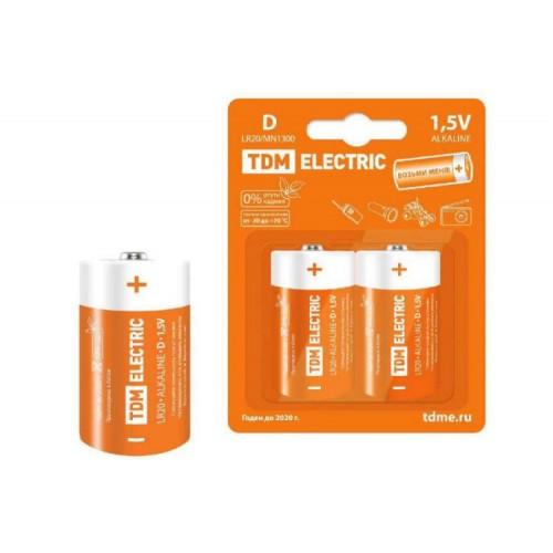 Элемент питания LR20 D Alkaline 1,5V ТДМ