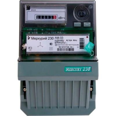 Меркурий 230AМ-03 однотарифный 5-7,5А 3ф