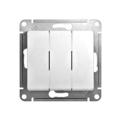 GSL000131 Выключатель 3-кл, сх.3 БЕЛ GLOSSA (20)