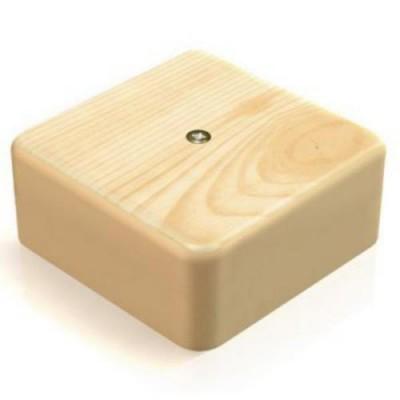 КМ41212-03 Коробка свет.дер. 75*75*20мм с контакт.