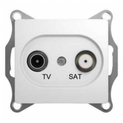 GSL000197 Розетка TV-SAT один. 1DB БЕЛ GLOSSA (10)