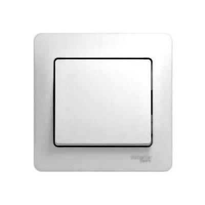 GSL000112 Выключатель 1-кл в сборе,сх.1 БЕЛ GLOSS