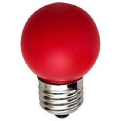 LB-37 Лампа свет. 5LED 1W 230V E27 КРАСНЫЙ