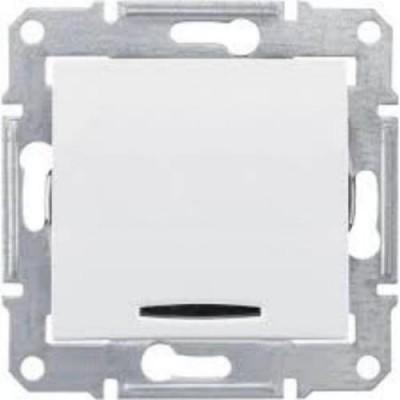 Переключатель 1кл. с подсв., белый SDN1500121