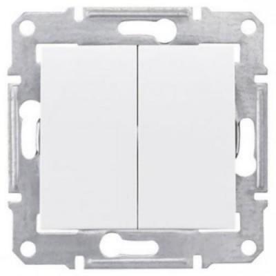 Переключатель 2кл бел. SDN0600121