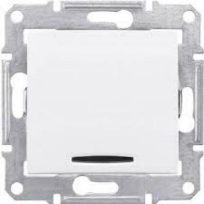 Выкл. 1-кл с подсв. бел. SDN1400121