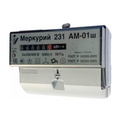 Меркурий 231AM-01Ш  однотарифный 5-60А мех.табло 3ф