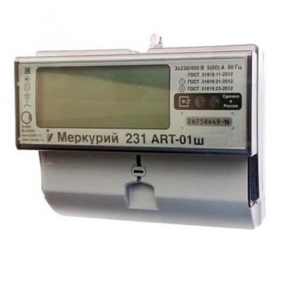 Меркурий 231ART-01Ш многотарифный 5-60А ЖК.табло 3ф